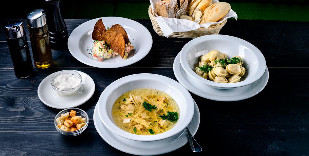 Салаты, горячее, супы, десерты вресторане «Маркштадт»
