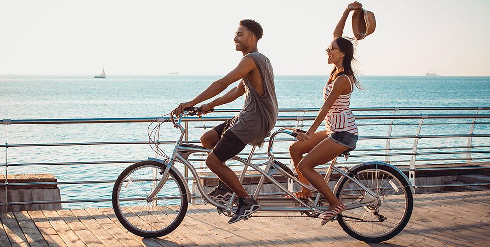 Катание на гироскутере и прокат велосипеда-тандем и комплекта защиты от BIG BOB