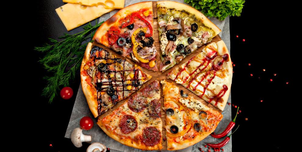 Pizza ebirra: пиццы «Ассорти», «Мясная», «4сыра», «Жульен», «Ветчина игрибы»