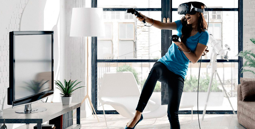 """Игры в шлеме HTC VIVE от салона виртуальной реальности """"Виртуальный мир"""""""