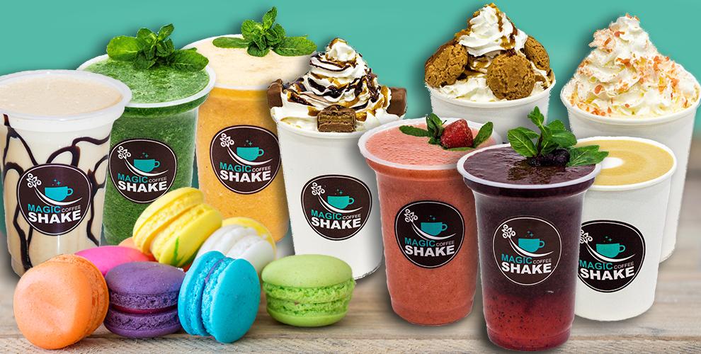 Magic Shake вТРЦ«Алмаз»: фраппучино, какао смаршмелоу, раф-кофе, латте идесерты
