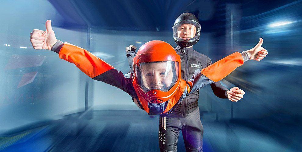 """Новый уровень ощущений: полеты в аэротрубе в центре развлечений """"Аэродинамика"""""""