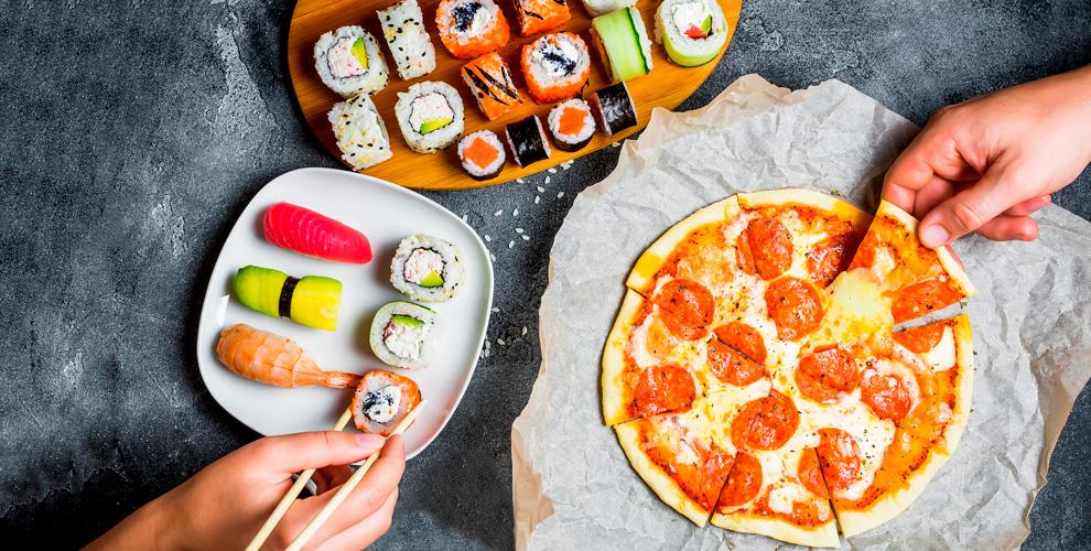 «Суши-Сет»: разнообразное меню роллов ипиццы