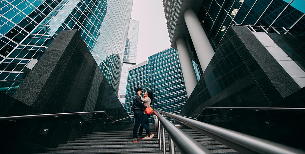 Романтическое свидание в «Москва-Сити» на 55 этаже от компании Moscow-City-Weekend