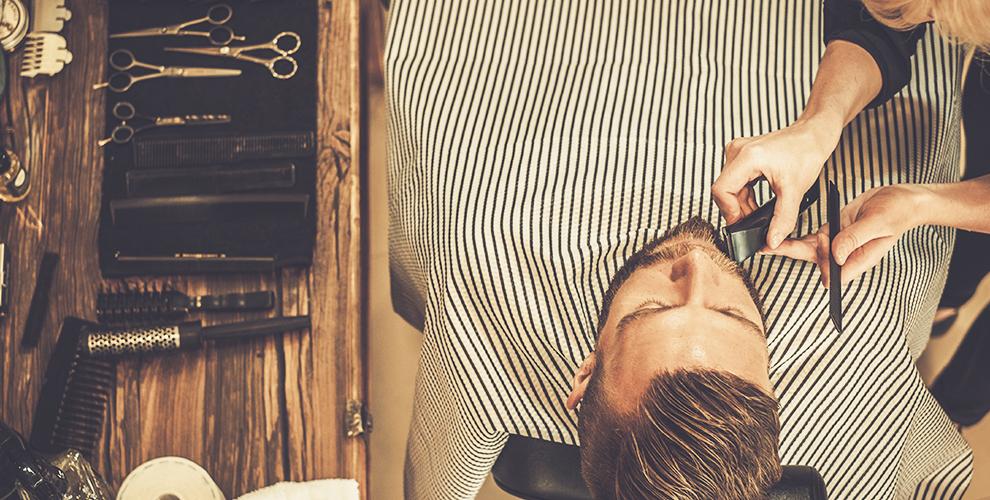 Стрижка бороды и усов, бритье в мужской парикмахерской Boy Cut