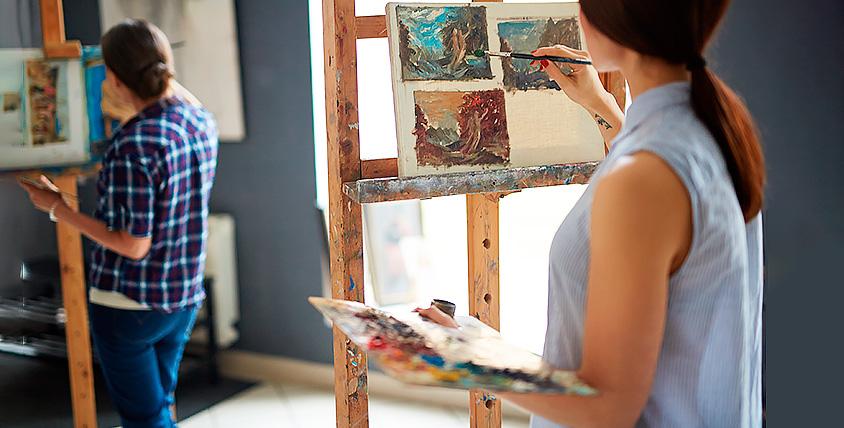 """Пробное занятие живописью, творческие мастер-классы в школе """"Жёлтый карандашЪ"""""""
