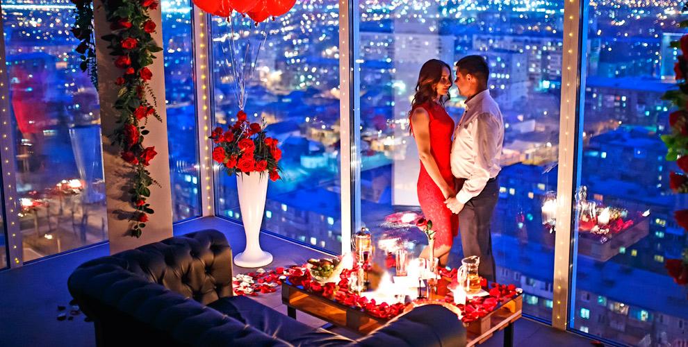 Уютное романтическое свидание накрыше ирозыгрыш