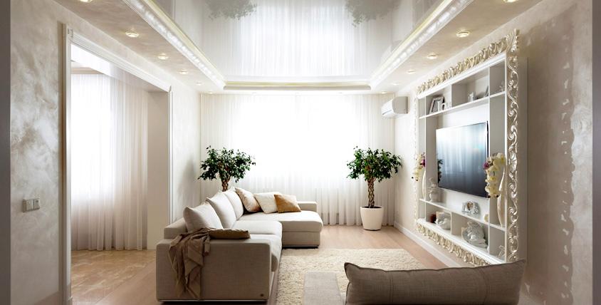 """Потолок - это важно! Изготовление и монтаж белого или цветного бесшовного натяжного потолка любой площади от компании """"Алион"""""""