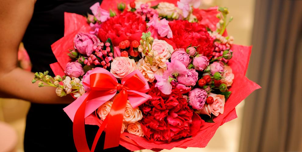 RoseMix: розы, герберы, тюльпаны, орхидеи икомпозиции изживых цветов