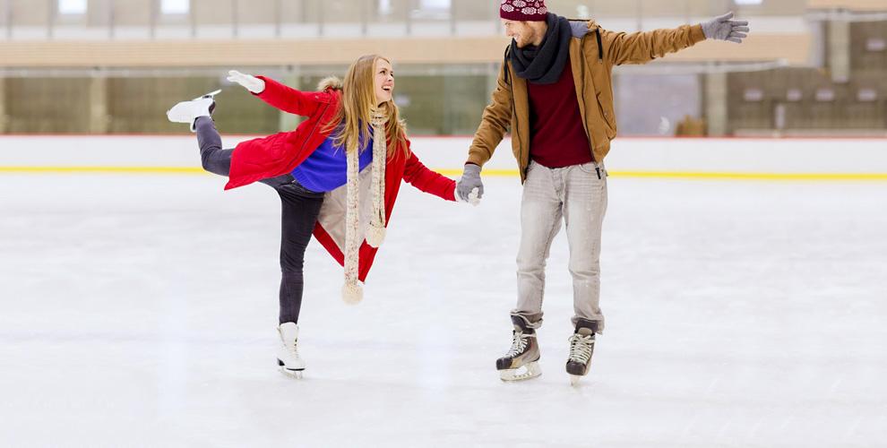Катание на коньках и прокат на катке «Веселый пингвин» у ТРК «Горки»