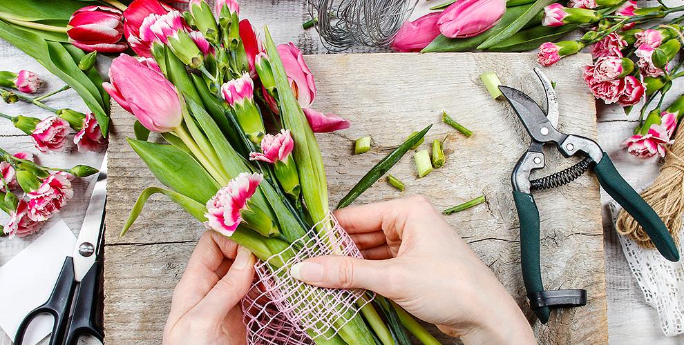 Мастер-класс по флористике в студии Flower Loft