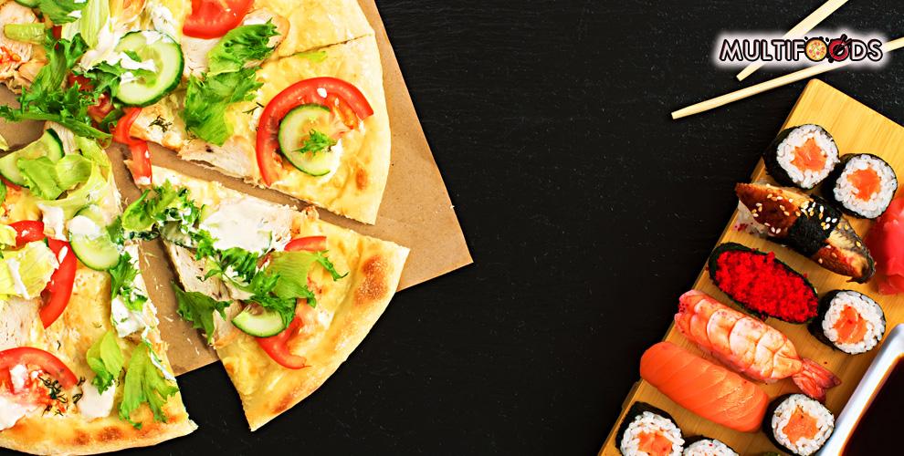 MULTIFOODS: филадельфия 365 гр. за 215 руб., пицца и пироги с бесплатной доставкой