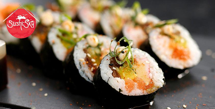 """Скай сеты, два вида ролла """"Филадельфия"""" за 315 руб. и наборы от ресторана доставки Sushi-sky"""