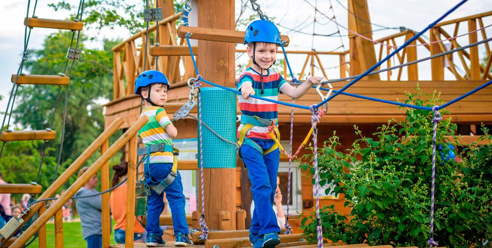 Посещение веревочного парка «Гамми парк» длявзрослых идетей