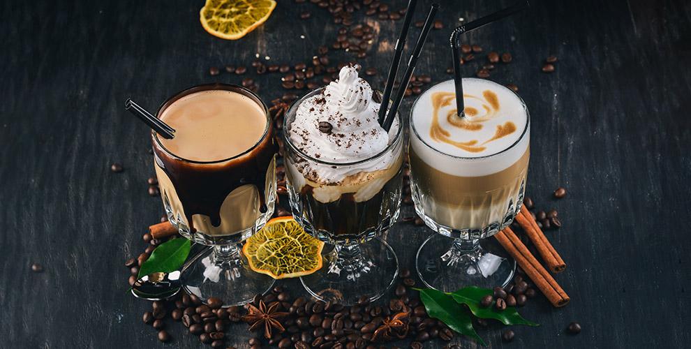 Американо, капучино, латте, мокко ссиропомвэкспресс-кофейне Alex Coffee