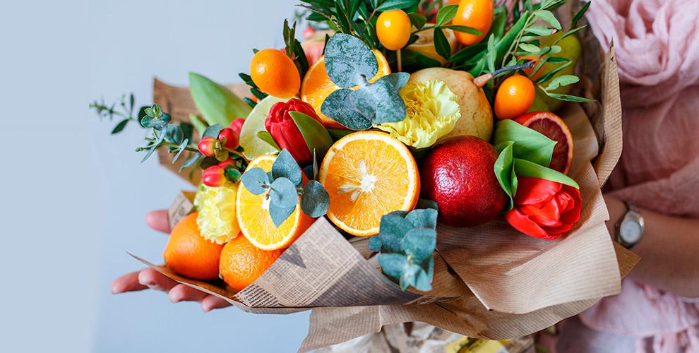 «Цветы от Марлен»: букеты из фруктов, овощей, колбасы и другое