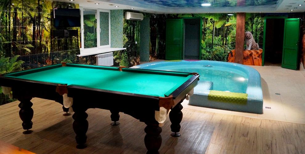 Сауна с ароматерапией, бассейн с гидромассажем и бильярд в центре «Водолей»