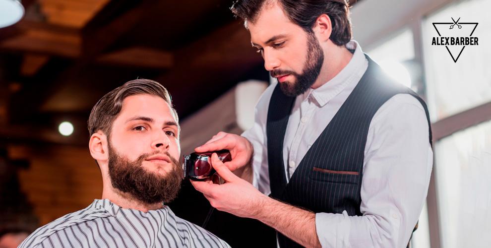 Мужская стрижка и оформление бороды в барбершопе Alex Barber