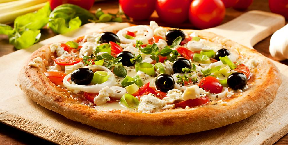 Меню пиццы от службы доставки Hot Pizza