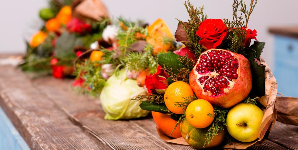 Вкусные букеты Delicious bouquets: «Мясной букет», «Новогоднее настроение», «Детский»