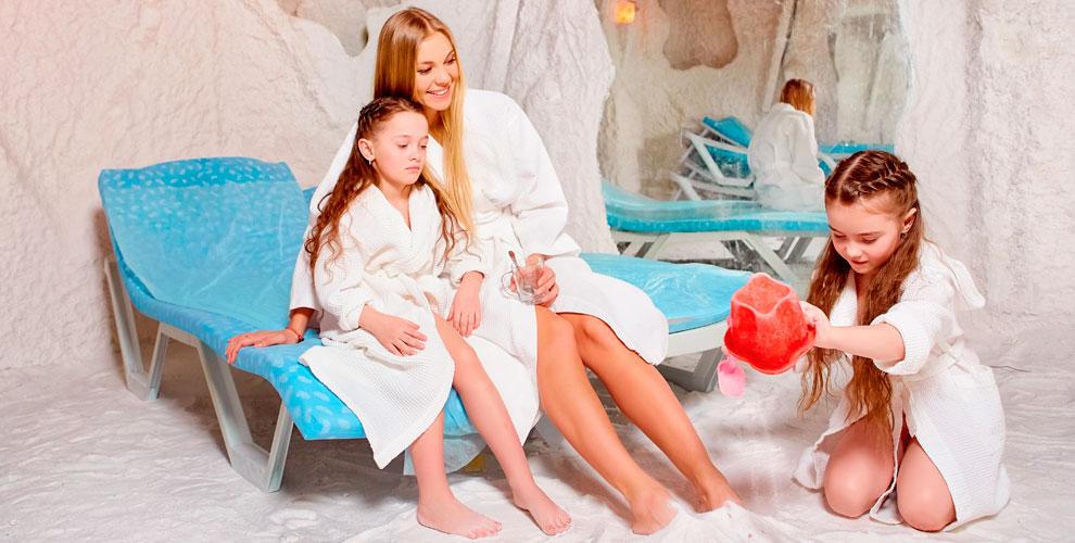 Посещение соляной пещеры «Кристаллы моря» для взрослых и детей