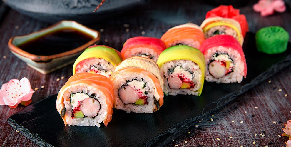 Роллы, сашими, сеты-ассорти, салаты, супы и другое от службы доставки SushiVip