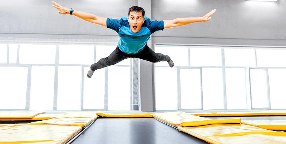 Свободные прыжки, групповые занятия и персональные тренировки в батутном клубе ALFA