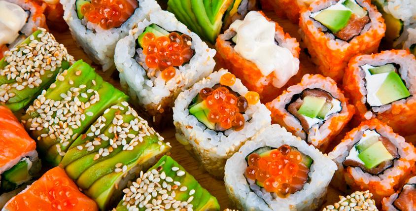 Все меню японской кухни осетинских пирогов от службы доставки Karamel-sushi.ru