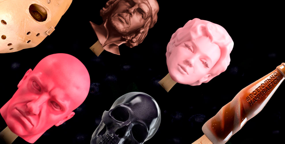 Скульптурное мороженое сгероем навыбор вкомпании Stoyn IceCream