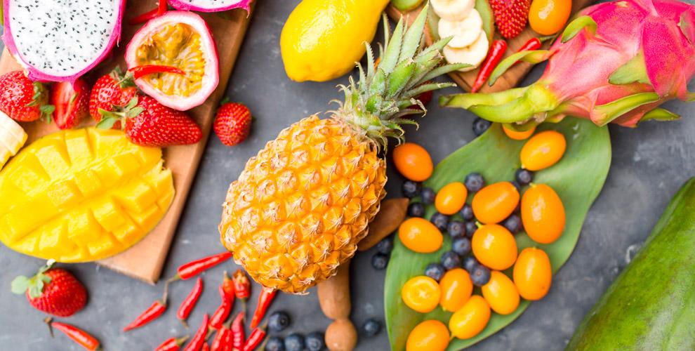Ананас, кокос, дуриан, манго, маракуйя, папайя иавокадо вмагазине «ФРУТНАМ»