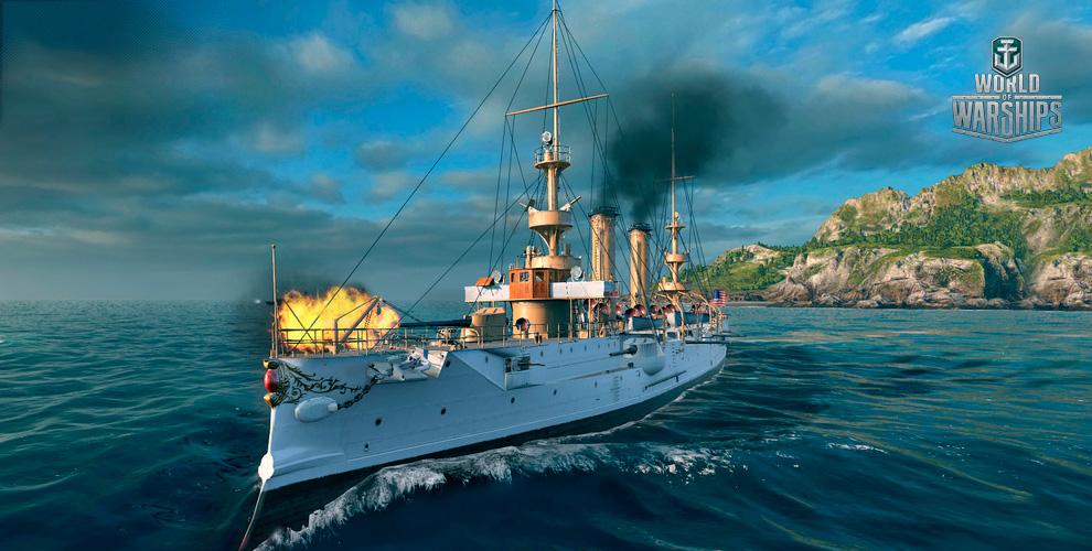 Крейсер Albany IIисеребро прирегистрации вонлайн-игре World ofWarships