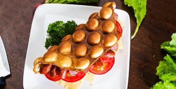 """Знаменитые гонконгские вафли Give me Waffle в ТРК """"Горки"""" ждут вас! Разнообразие вкусов и начинки не оставят равнодушными никого"""