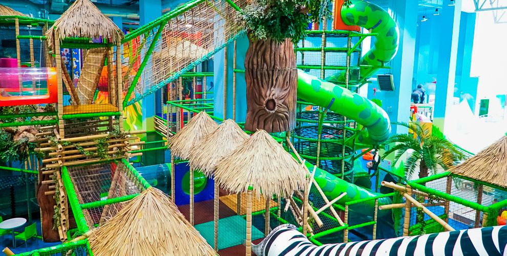 Входные билеты наскалодром и лабиринт впарке развлечений «Веселые Джунгли»