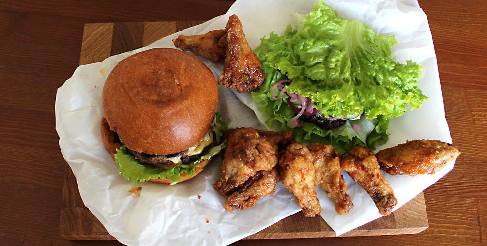 Бургер-бар «Бulkaмясо»: аппетитные бургеры, куриные крылышки, свиные ребра и напитки