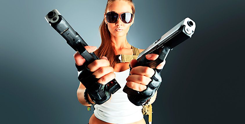 200 выстрелов из пневматического оружия в страйкбольном клубе Air-Soft
