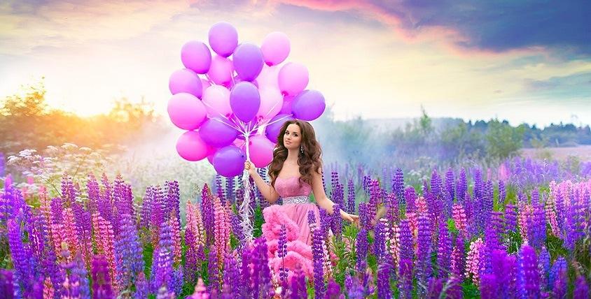 Фольгированные и светодиодные шары, цифры из шаров от компании Magic Happy Day