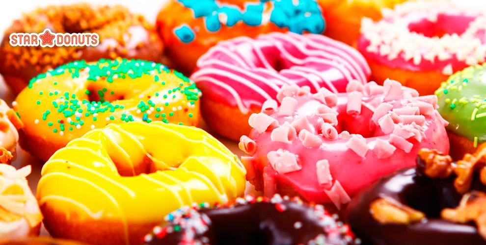 Star Donuts - пончики на любой вкус, чай и какао с маршмеллоу