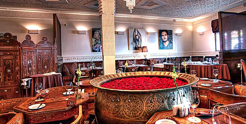 """Сочетание стилей и роскошного восточного убранства в ресторане """"Дамас""""! Традиционная арабская кухня за полцены"""