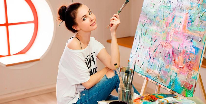 """Мастер-класс по рисованию маслом в художественной студии """"С листа"""""""