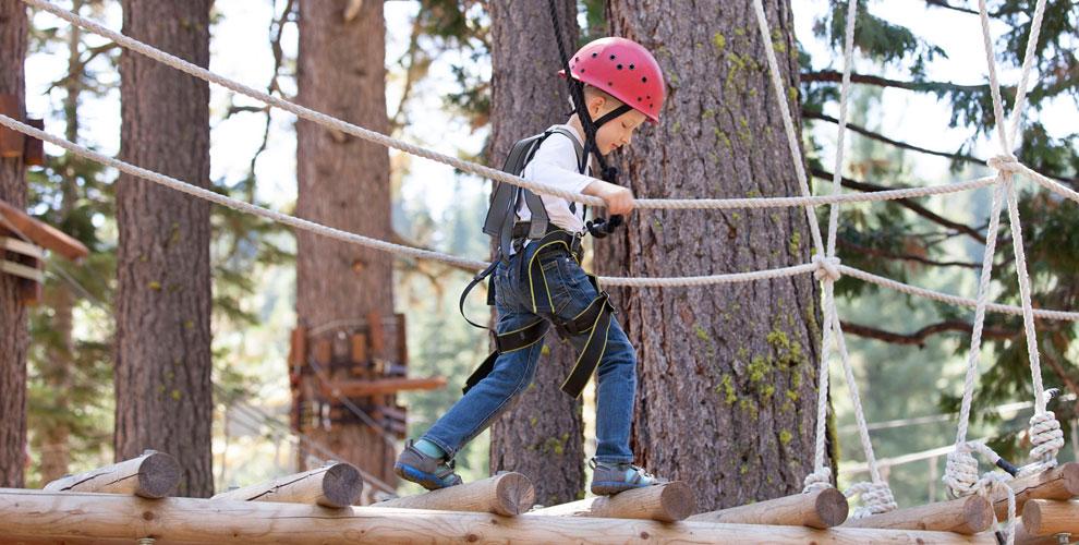 Билеты напосещение сети веревочных парков «Веселая Лазалка» длявзрослых идетей
