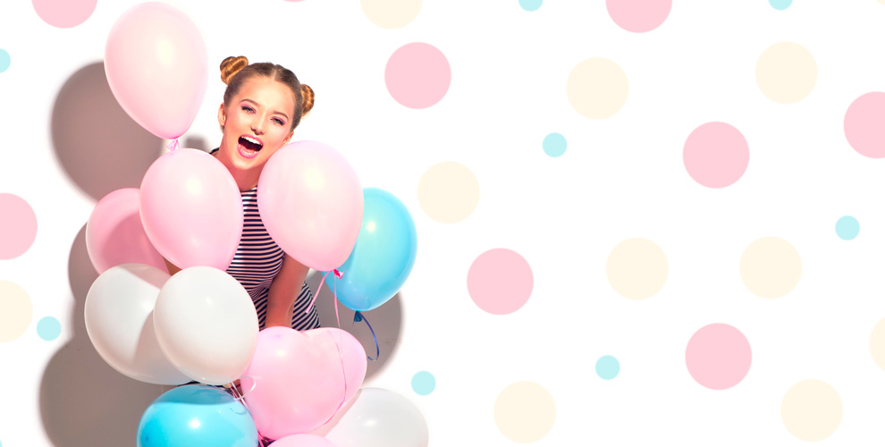 Гелиевые шары, цифры, плетенная гирлянда иаренда игрушек откомпании «Лучший день»