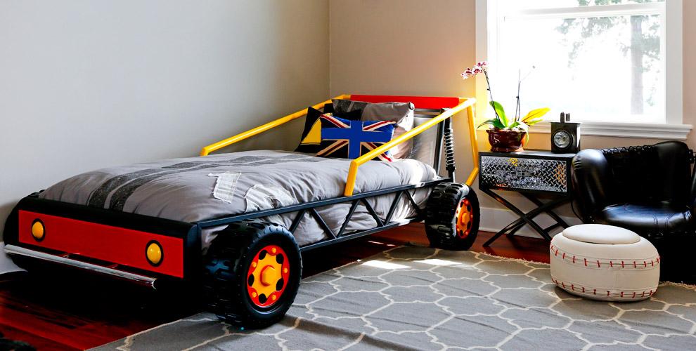 Кровати-машины и фотошторы от магазина детской мебели «БиБиКа_74»