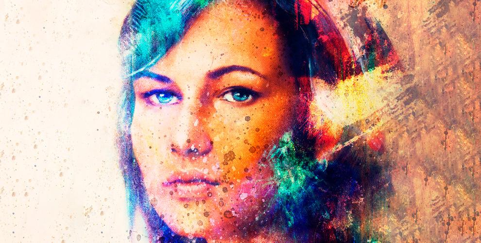 Изготовление постера илипортрета нанатуральном холсте встудии ArtoGram