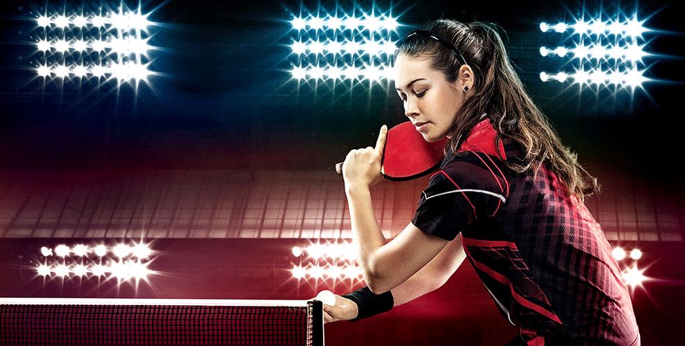 Игра внастольный теннис вклубе «ТеннисОк»