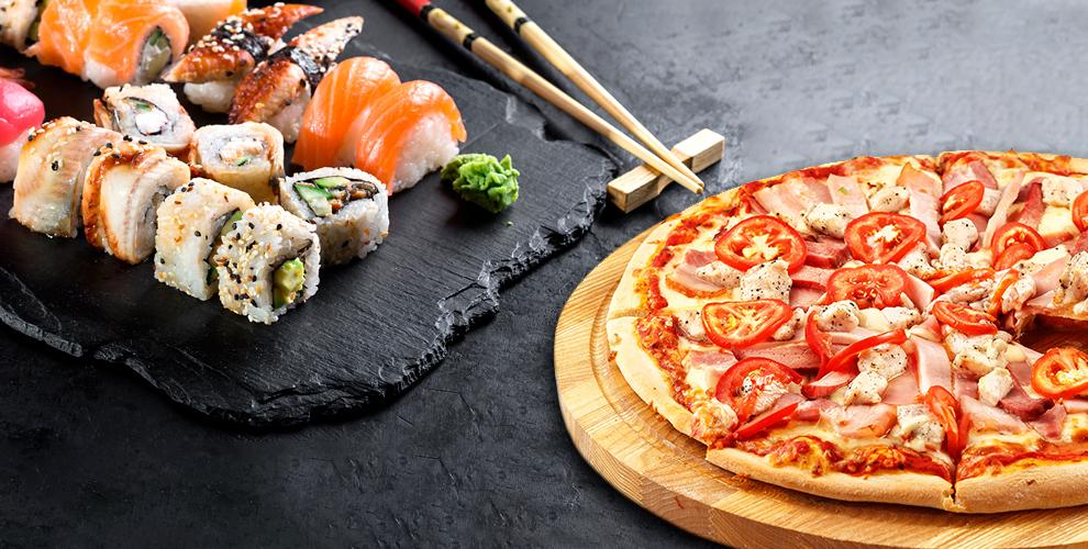 Блюда японской иевропейской кухни вCafe «Золотая Подкова»