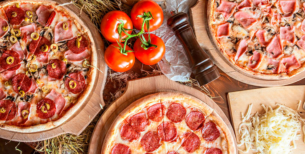 Меню пиццы и осетинских пирогов от службы доставки Mosi Mosi