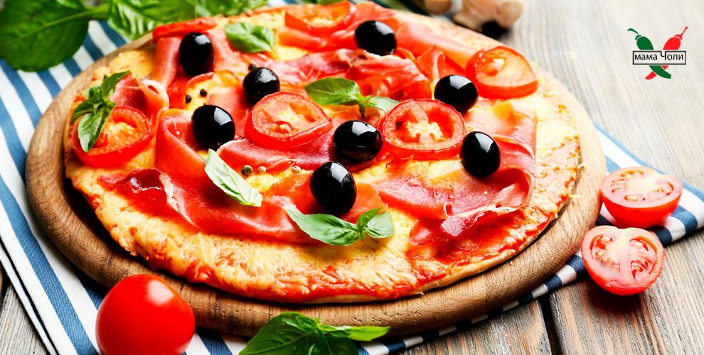 Пицца, роллы, чизкейк изакуски впиццерии «Мама Чоли»