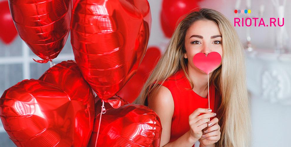 Гелиевые фольгированные шары: сердце, звезда, круг отмагазина Riota.ru