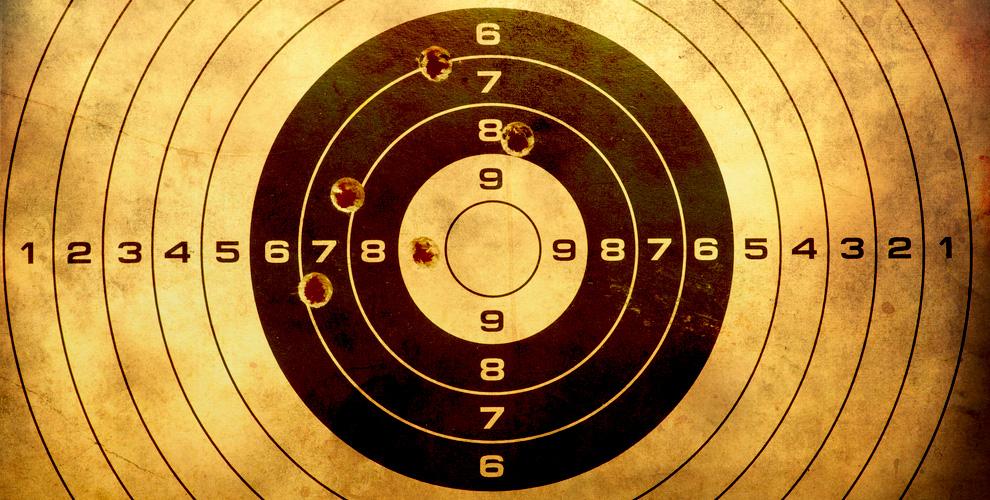 Выстрелы из пневматического оружия в тире «Лимонтир»