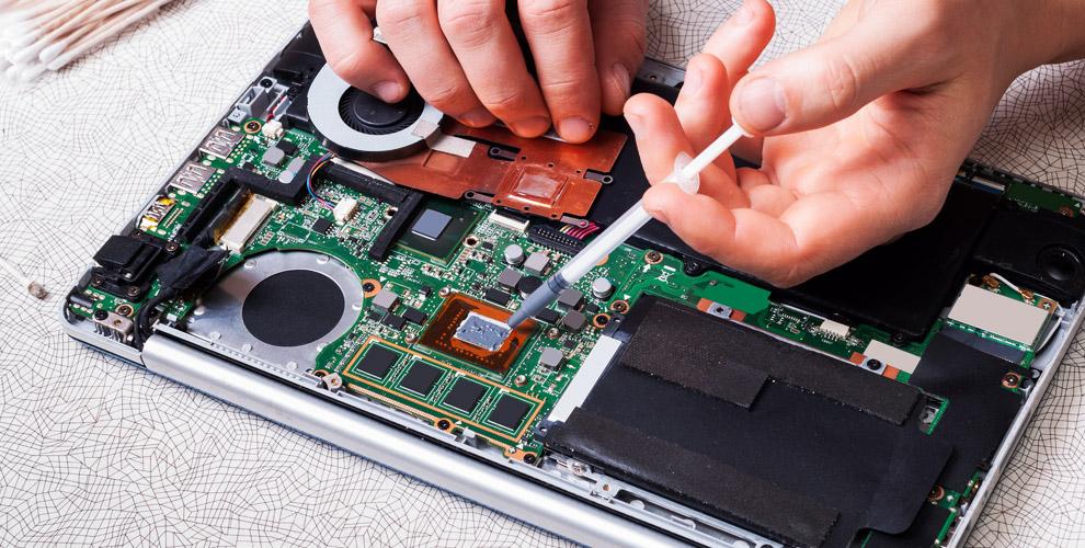 Замена термопасты и чистка системы охлаждения от пыли и в сервисном центре AppleFM